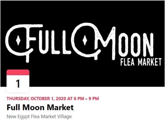 Full Moon Flea Market, Oct 1, 2020