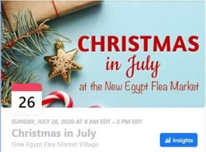 Christmas in July, New Egypt Market Village, NJ