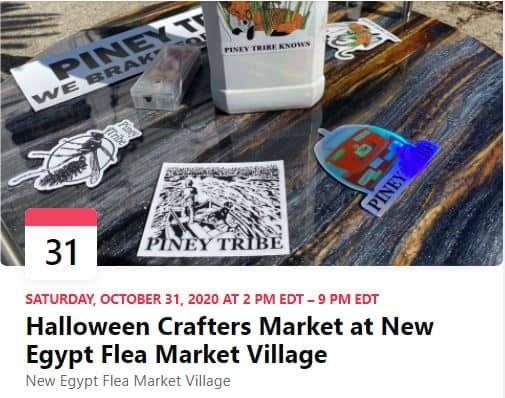 Read more about the article Halloween Crafters Market at New Egypt Flea Market Village 10-31-20
