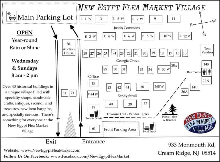 Merchant-Facility Map-New Egypt Flea Market Village