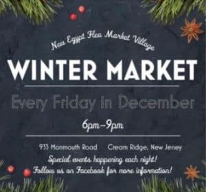 Winter Market at New Egypt Flea Market, Every Fri. Dec. 2020