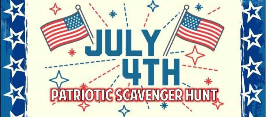 July Scavenger Hunt-<br>July 4, 2021